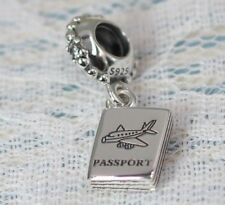 Pandora S925 Ale Passport Charm 791147CZ With Tissue And Pop-up Box