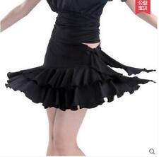 Childen Latin salsa tango rumba Cha cha Ballroom Dance Dress  skirt red black