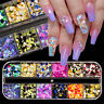 12 Grids/Box Nail Glitter Sequins Holographicssss Nail Art Colorful Round Flakes