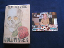 GOLDFINGER by IAN FLEMING - SIGNED by BOND 'Golden Girl' Actress SHIRLEY EASTON