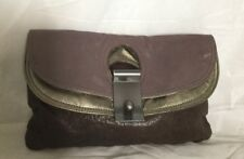 Large WITCHERY Leather Clutch Bag / Handbag