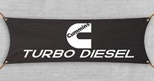 Cummins Banner Flag Turbo Diesel  Dodge Ram 2500 SLT Garage Man Cave (18x59 in)
