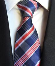 Fashion Men's  blue stripe JACQUARD WOVEN Neck Ties Wedding Party Silk tie gift