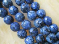 8mm blue Faceted Jade Round Gemstone Loose Beads 15'' ##HK1029