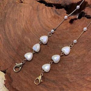 Eyeglass Chain Sunglasses Read Bead Glasses Chain Holder Eyewear Necklace Chain