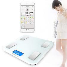 Bluetooth Digital Bathroom Smart Scale Body Weight Fat BMI Bone for iOS Android