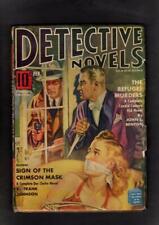 Detective Novels Magazine Vol 7 #1 BETTER 1941 Pulp GD/VG
