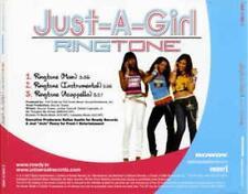 Just-A-Girl Ringtone PROMO MUSIC AUDIO CD Main Instrumental Acappella UNIR 21969