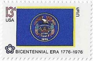 US Stamps. 1976 Bicentennial Utah State Flag. Scott# 1677. MNH.
