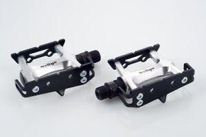 NEW Wellgo Bike Track Fixed Gear Road Pedals (Toe Clip & Strap Ready) - Black