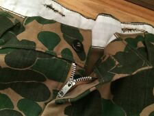 Vintage Vietnam War Era Duck Hunting Zipper Camo Camouflage Woodland Pants.