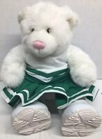 VTG Build-a-Bear Workshop Green&White Cheerleader Bear Plush Birthday Gift