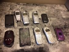 Vintage Cell Phone Lot of 10 Motorola LG Nokia Kyocera UNTESTED