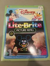 1980's Disney Characters Lite-Brite 4779 Picture Refill Hasbro OPENED Mickey NEW