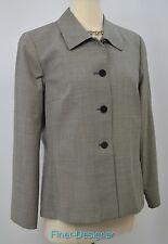 Austin Reed light jacket houndstooth tweed blazer suit coat womens worsted SZ 10