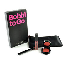 Bobbi Brown To Go 4 Pieces Set - Lip Gloss, Lip Liner, Pot Rouge, Cosmetic Case