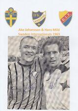 AKE JOHANSSON & HANS MILD SWEDEN INTL 1963 RARE ORIGINAL AUTOGRAPHS MAG CUTTING