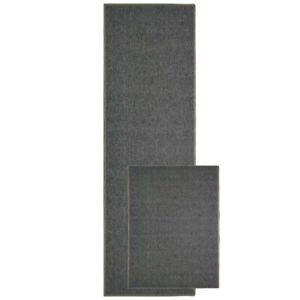 UAREHOME Machine Washable Plain Barrier Door Mat Carpet Pile Plain 2 Colors