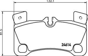 Hella Pagid Rear Brake Pads fits VW TOUAREG 7LA, 7L6, 7L7, Mk1 5.0 V10 TDI
