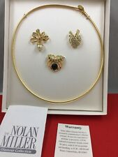 Vtg.NIB NOLAN MILLER Glamours Interchangeable Pendant Perl,crystal Necklace