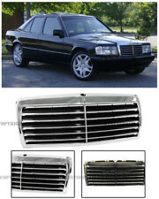 For 84-93 MB W201 190D 190E 13 Trim Style Front Bumper Upper Radiator Grille