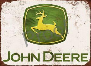 "JOHN DEERE #0189 SIGN 10 X 7.7"" GARAGE ALUMINIUM METAL FARMING TRACTOR"