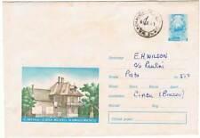 Rumanía. Sobre prepagado 55 Bani. Cimpina Casa Muzeu N. Grigorescu. Circulado
