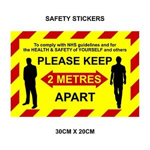 Floor / Wall decals stickers 2m social distancing - Keep your distance, shops