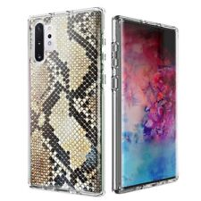 For Samsung Galaxy Note 10 Snake Skin Design Double Layer Case