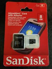 San Disk 8 GB Micro SDHC Card With Adapter - New in Pkg.  Quantity - 1
