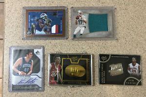 Football/Basketball Auto Autograph Jersey Patch Relic Mixed Bulk Lot 5x Cards