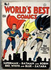 WORLD'S BEST #1 1941-DC COMICS-SUPERMAN-BATMAN-ROBIN-CRIMSON AVENGER-pr.