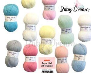 5-10  x 100g Baby Dream Baby Wool,Soft Double Knitting Yarn, Woolcraft Wool