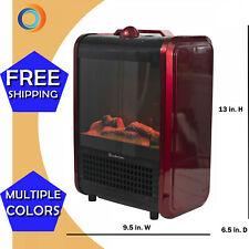 Comfort Zone Mini Electric Fireplace Space Heater Red Home USA SELLER FAST SHIP