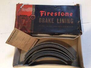 NOS 1934 - 1941 Chrysler Dodge DeSoto Brake Linings Set Firestone in Box Vintage