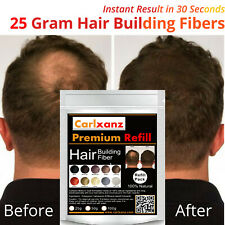 25g / 0.88oz (Medium Brown) Carlxanz Hair Building Fiber Refill Pack Caboki