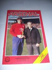 ARSENAL v ROTHERHAM UNITED 1985/86 - FA CUP 4TH ROUND - FOOTBALL PROGRAMME