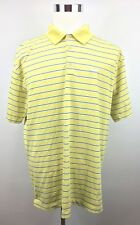 Nike Golf Men's NikeFitdry Yellow Striped Logo Golf Shirt - Size Xl