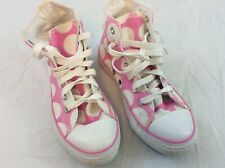 Converse All Star Girls Size 3 Bubblegum Pink Polka Dots Hi Top Shoes