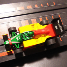 TOMY AURORA AFX Magna Slot Car #20 RIELLO Beneiion Yellow Green Red Very Good