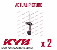 2 x FRONT AXLE SHOCK ABSORBERS PAIR STRUTS SHOCKERS KYB OE QUALITY 333771