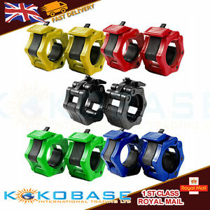 5cm 2 inch Olympic Spinlock Collars Barbell Clamp Weight Bar Lock Dumbell Clips