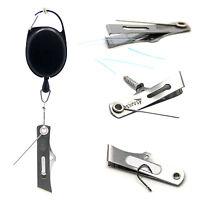 SAMSFX Fly Fishing Line Clipper Cutter Nippers Zinger Retractor Hook Sharpener