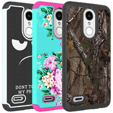 For LG Aristo 2 / Zone 4 / Phoenix 4 Case Hybrid Armor Shockproof Phone Cover