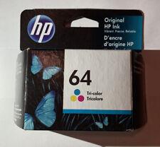 HP 64 Tri-Color Ink Cartridge Genuine (Exp. 2023)