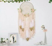 Lace Dreamcatcher Boho Dream Catcher Ribbon Vintage Gold Floral Pink Roses Girls