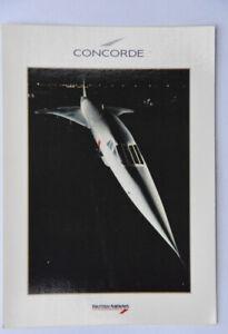 British Airways Concorde airline issue postcard