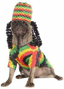 Rubie's Pet Shop Boutique Rasta Dog Jamaican Halloween Dog Pet Costume NEW