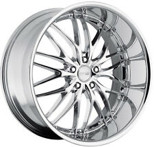 "19"" MRR GT1 Chrome Wheels For Camry Hyundai Genesis Accord G35 Mustang Rims Set"