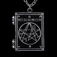 RESTYLE NECRONOMICON BOOK SHAPED LOCKET NECKLACE. H.P LOVECRAFT. OCCULT SYMBOLS.